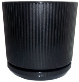 Ribbed-Pot-Black